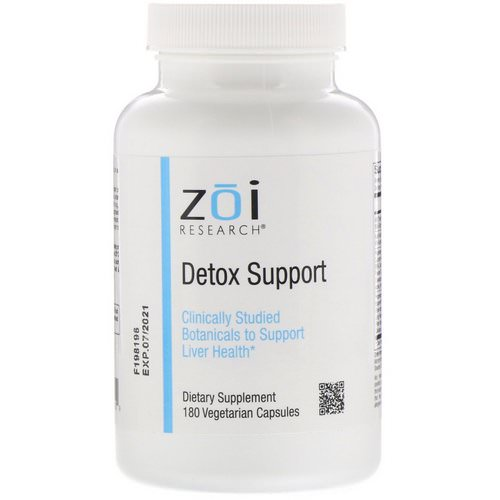 ZOI Research, Detox Support, 180 Vegetarian Capsules فوائد