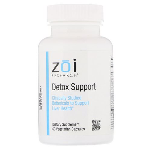 ZOI Research, Detox Support, 60 Vegetarian Capsules فوائد
