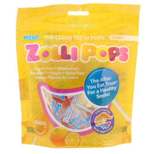 Zollipops, The Clean Teeth Pops, Orange, 15 ZolliPops, 3.1 oz فوائد