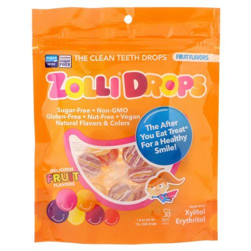 Zollipops, Zolli Drops, The Clean Teeth Drops, Fruit Flavors, 15+ Zolli Drops, 1.6 oz فوائد